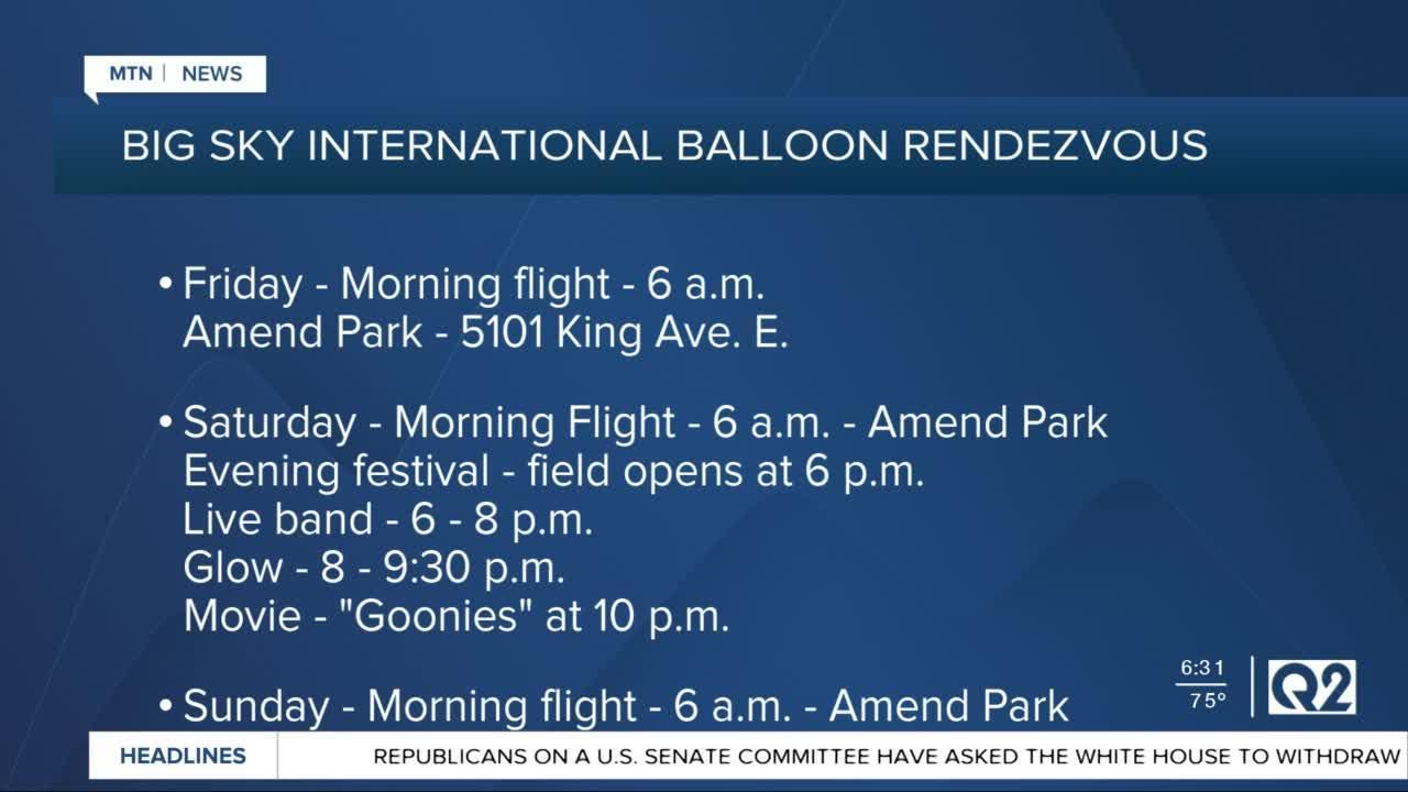 Big Sky International Balloon Rendezvous to take flight this weekend