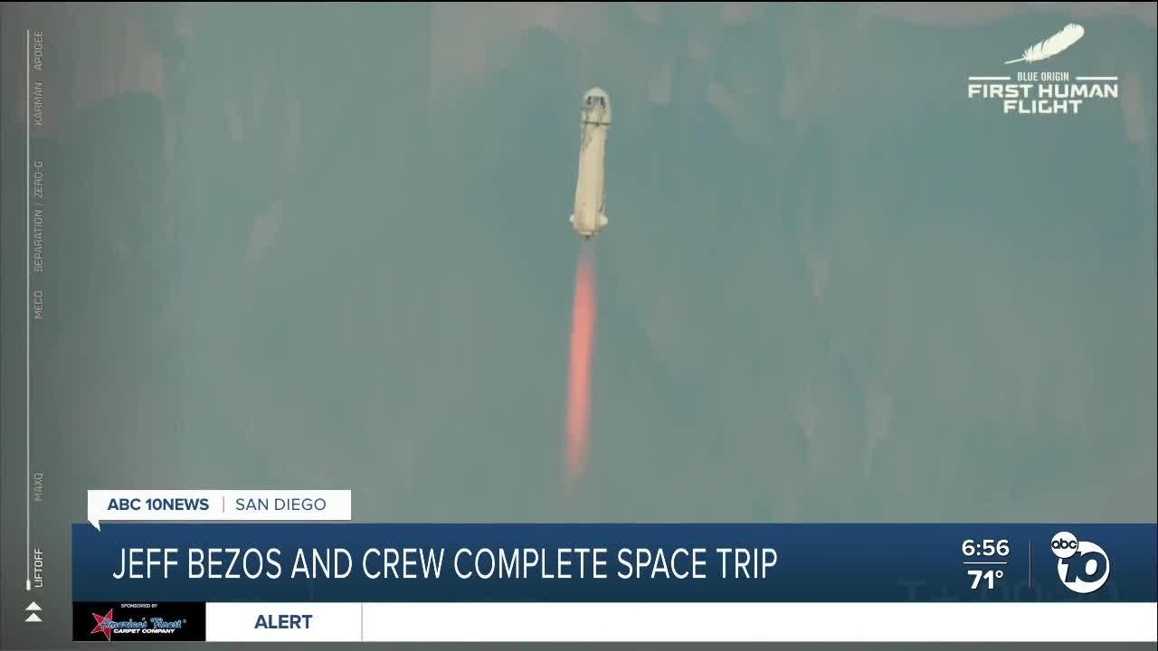 Amazon founder Jeff Bezos, 3 others complete space trip