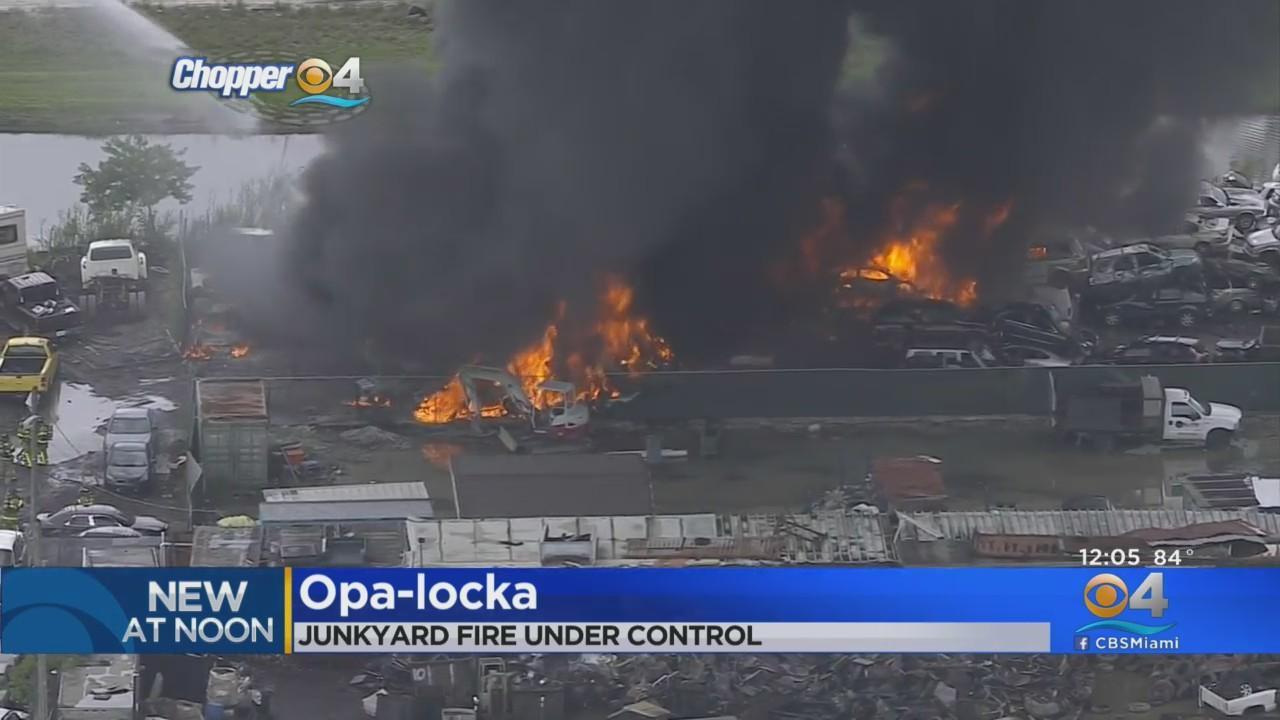 Fire At Opa-locka Junkyard
