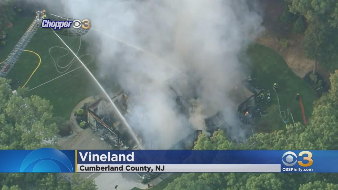 House In Vineland Engulfed In Flames