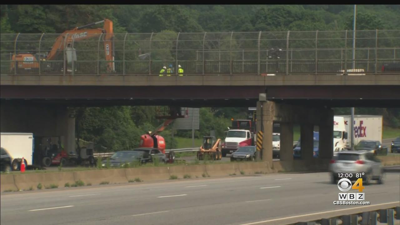 Repairs To Damaged Bridge On I-93 In Medford Expected To Cause Delays For Months