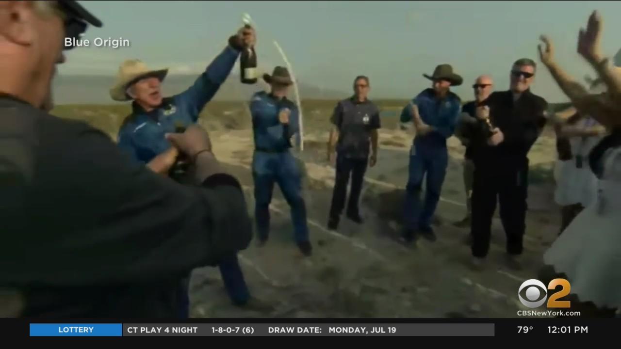 Jeff Bezos Celebrates Historic Space Launch