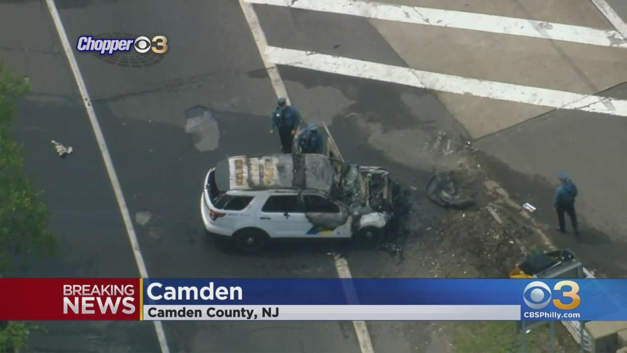 New Jersey State Police Cruiser Involved In Crash On I-676