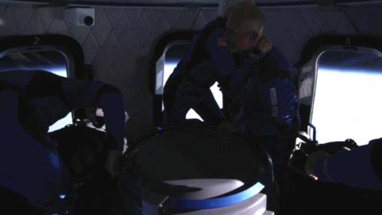 See inside capsule during Jeff Bezos' spaceflight