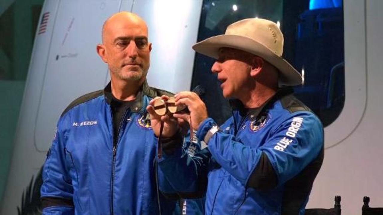 Jeff Bezos reveals the priceless items his crew brought to space