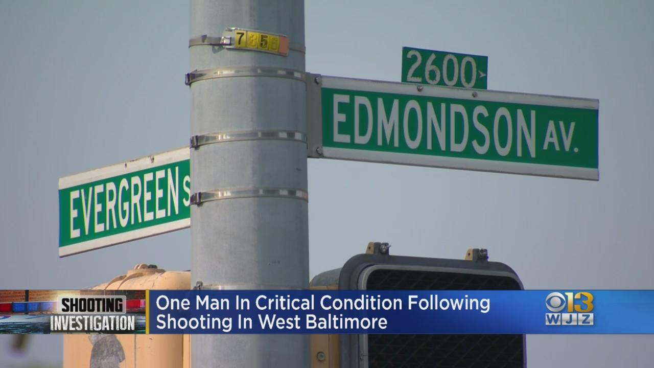 Man In Critical Condition After He Was Shot In West Baltimore