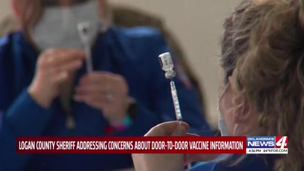 Oklahoma county sheriff tries to reassure residents upset about door-to-door COVID-19 vaccine outreach