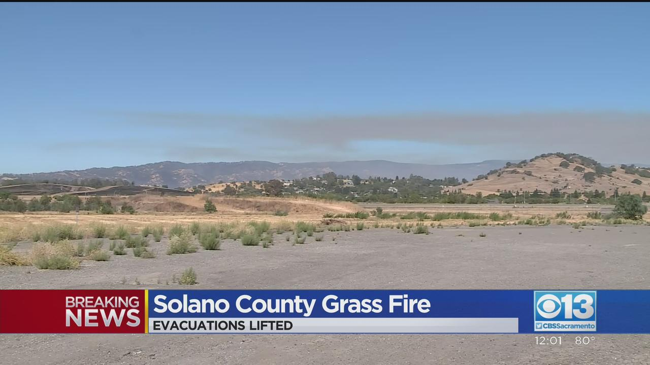 Mandatory Evacuation Orders Lifted After Fire Near Vacaville