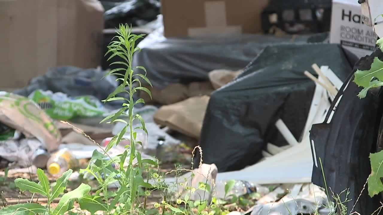 Mercedes Benz among the items piling up on Linden Heights Avenue