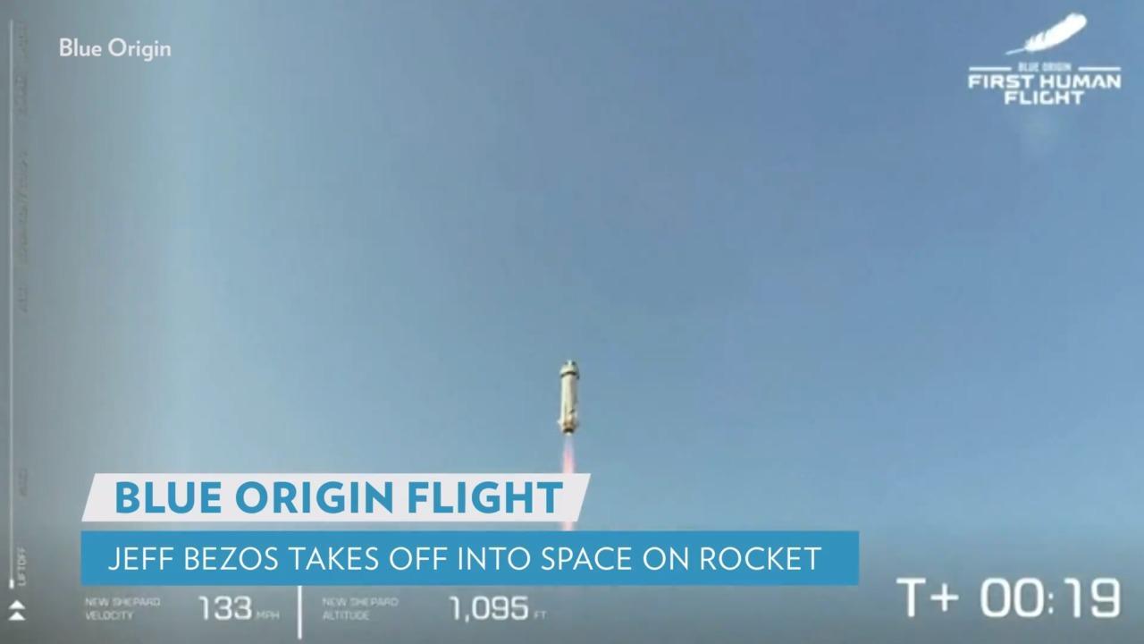 Blast Off! Jeff Bezos Flies to Space Aboard Blue Origin Rocket: 'Best Day Ever'
