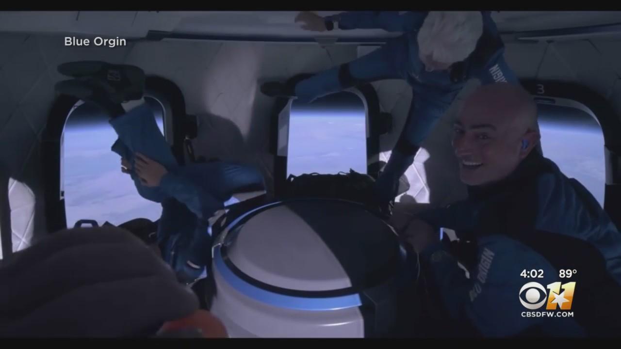 History Made In Texas As Bezos' Blue Origin 'New Shepard' Crew Takes Spaceflight