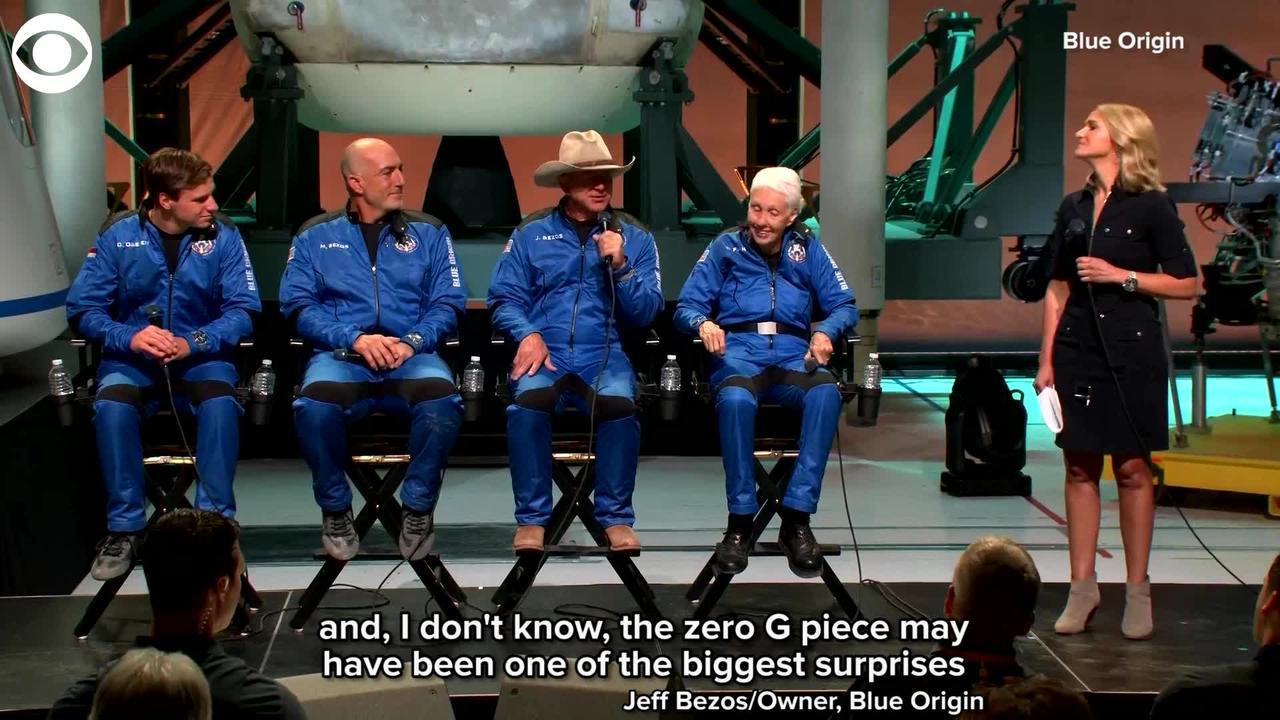 WEB EXTRA: Jeff Bezos Describes His Flight To Space