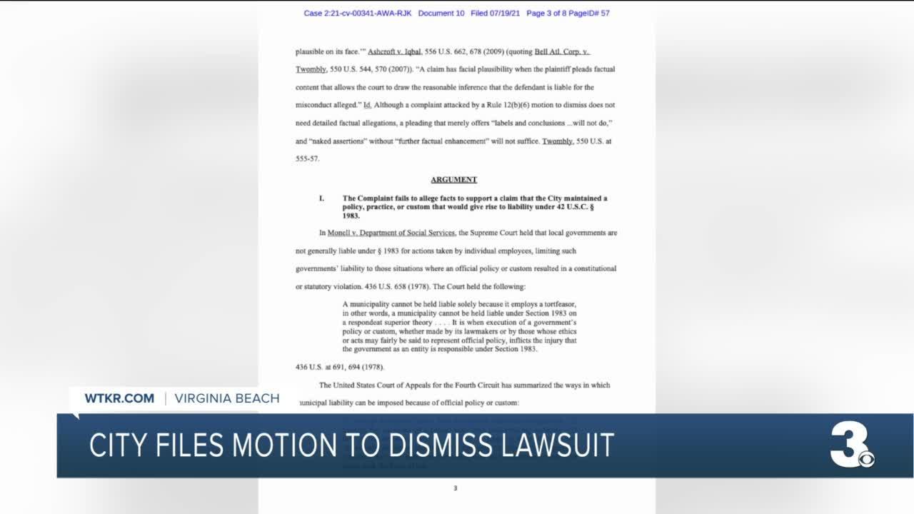 Virginia Beach files motion to Lynch familydismiss lawsuit