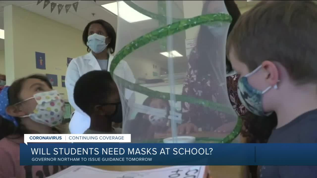 Virginia to provide guidance on masks in schools amid new recommendations