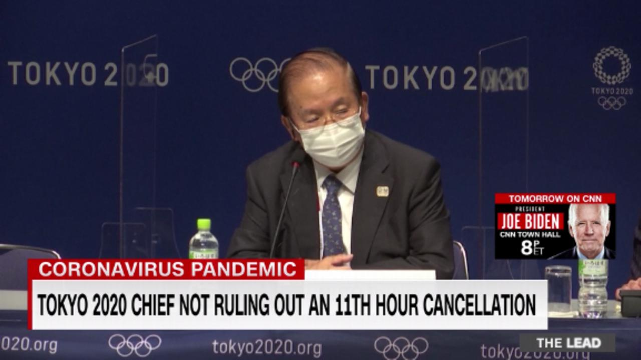 Tokyo 2020 chief not ruling out an 11th-hour cancellation of the games amid rising Covid-19 cases