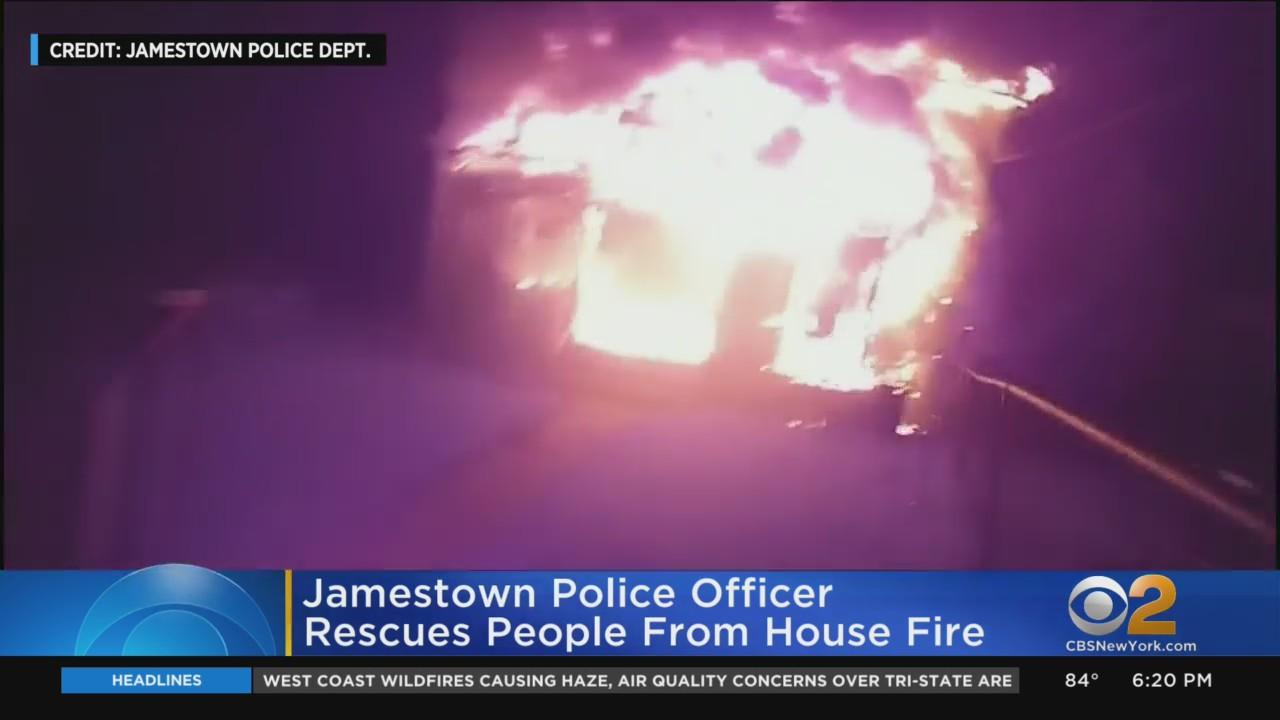 Jamestown Police Officer Rescues People From House Fire