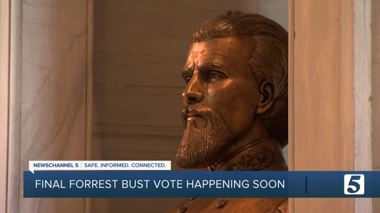 State Building Commission to vote on the removal of Nathan Bedford Forrest bust