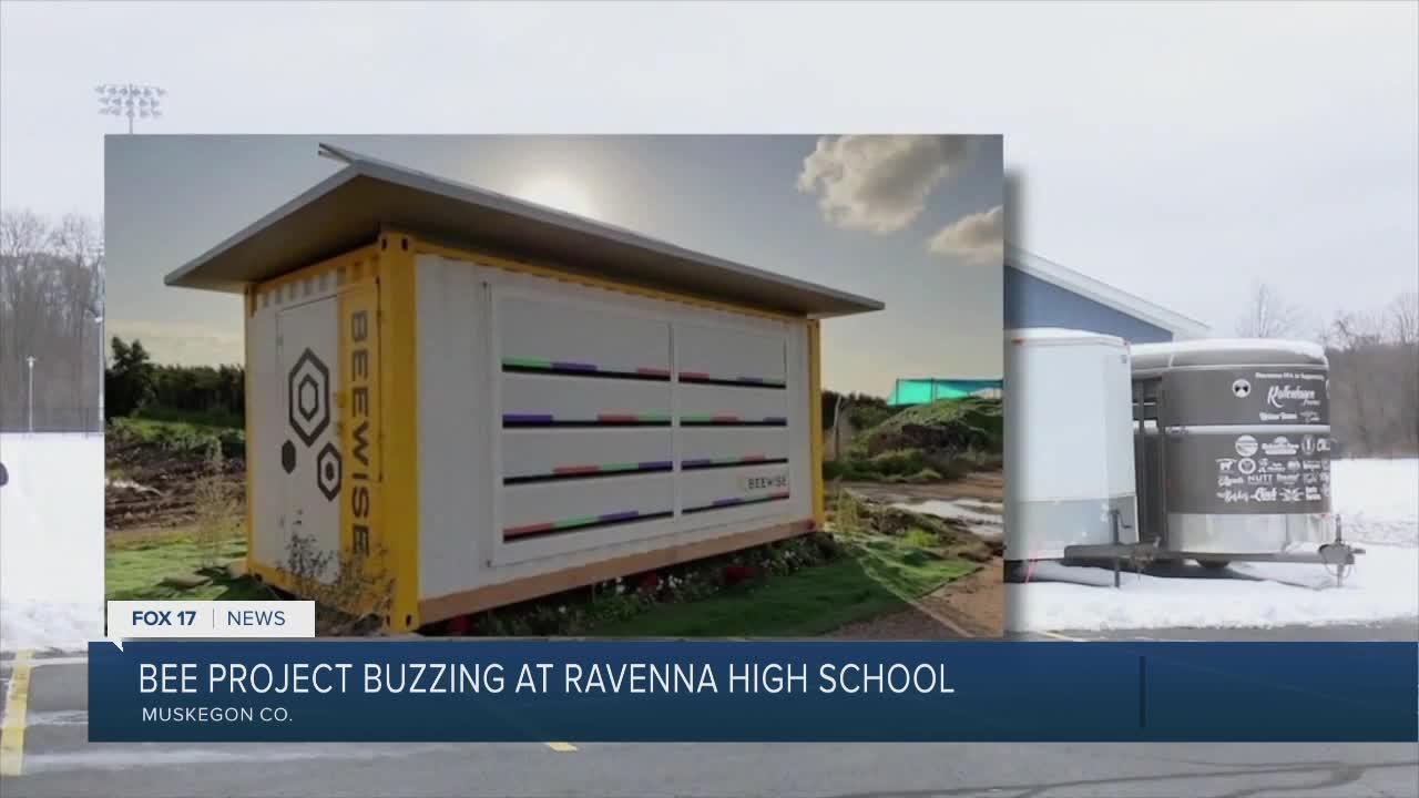 Bee Project bussing at Ravenna High School