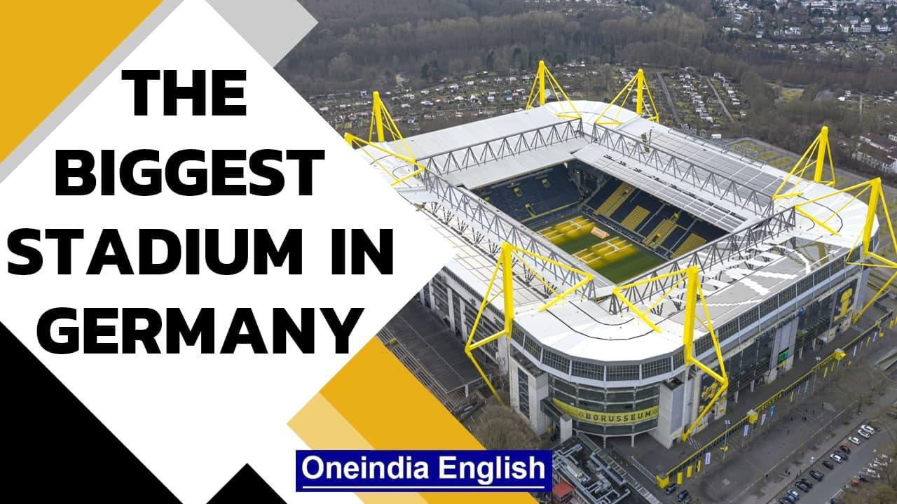 Germany's biggest stadium   Drone tour shows bird's eye view   Oneindia News