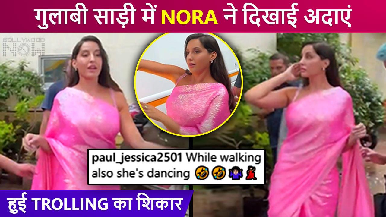 Netizens Troll Nora Fatehi For Her 'Strange' Walking Style Wearing Saree