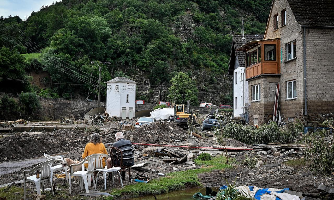 'It went so fast': villagers describe destruction as flooding hits west Germany