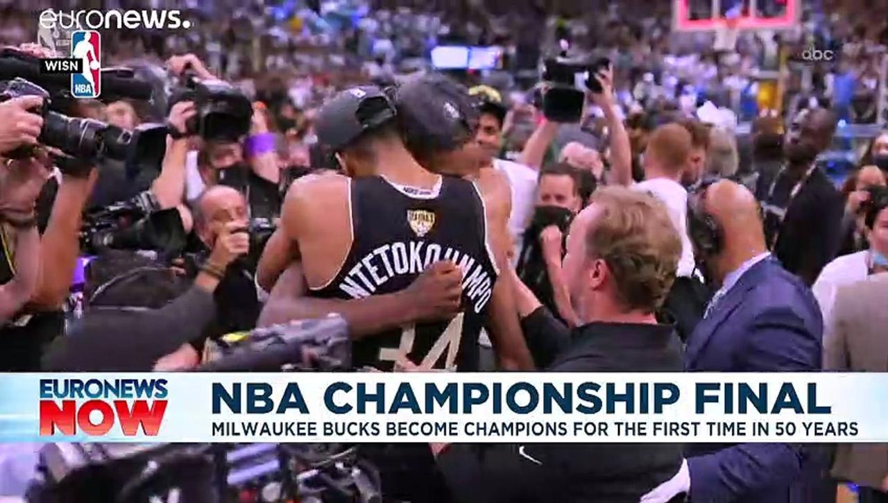 Giannis Antetokounmpo: Greek NBA Finals MVP celebrated by Athens suburb