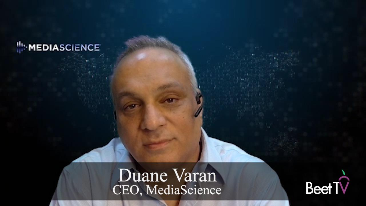 'There's a New Paradigm for Brand Integrations on TV': MediaScience's Duane Varan