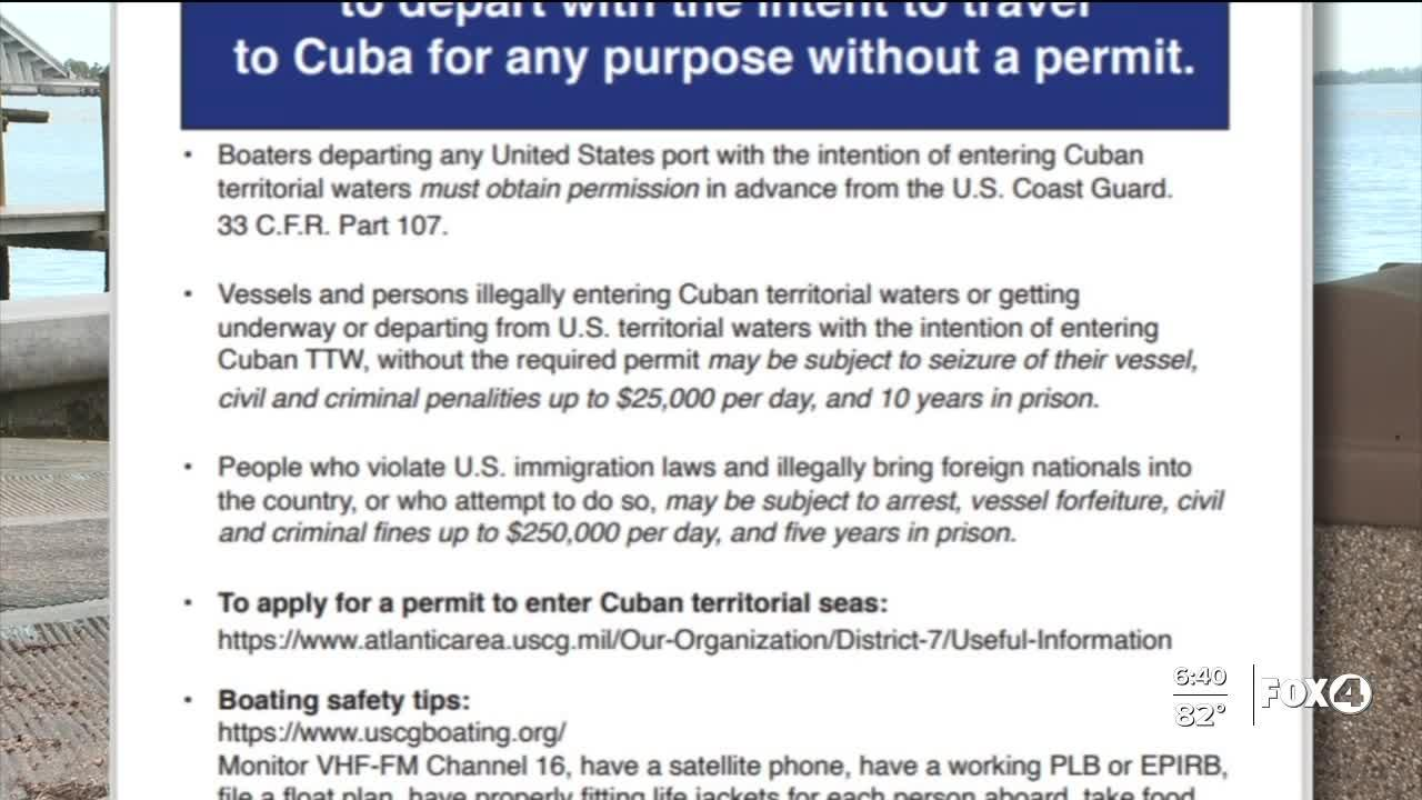 Boaters going to Cuba could face fines and jail time; locals demand action from D.C.