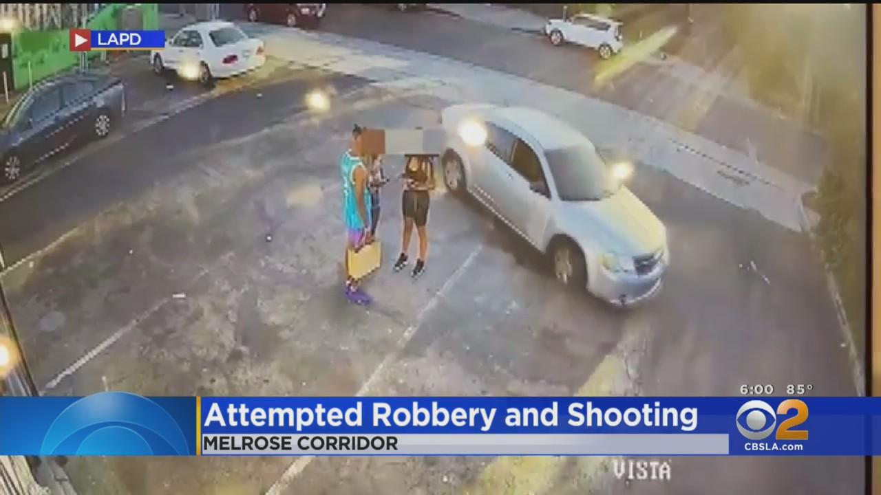 LAPD Releases Video Of Attempted Robbery In Melrose Area In Hopes Of Identifying Driver