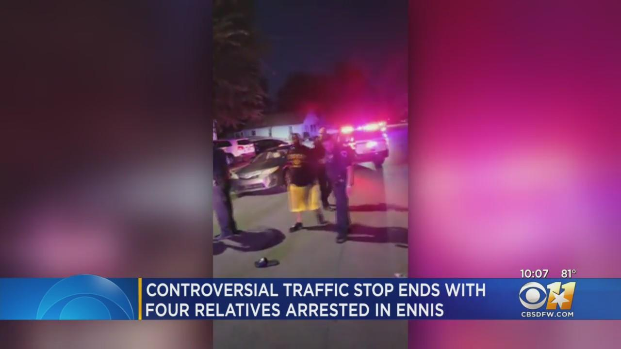 Controversial Traffic Stop Ends With 4 Relatives Arrested In Ennis