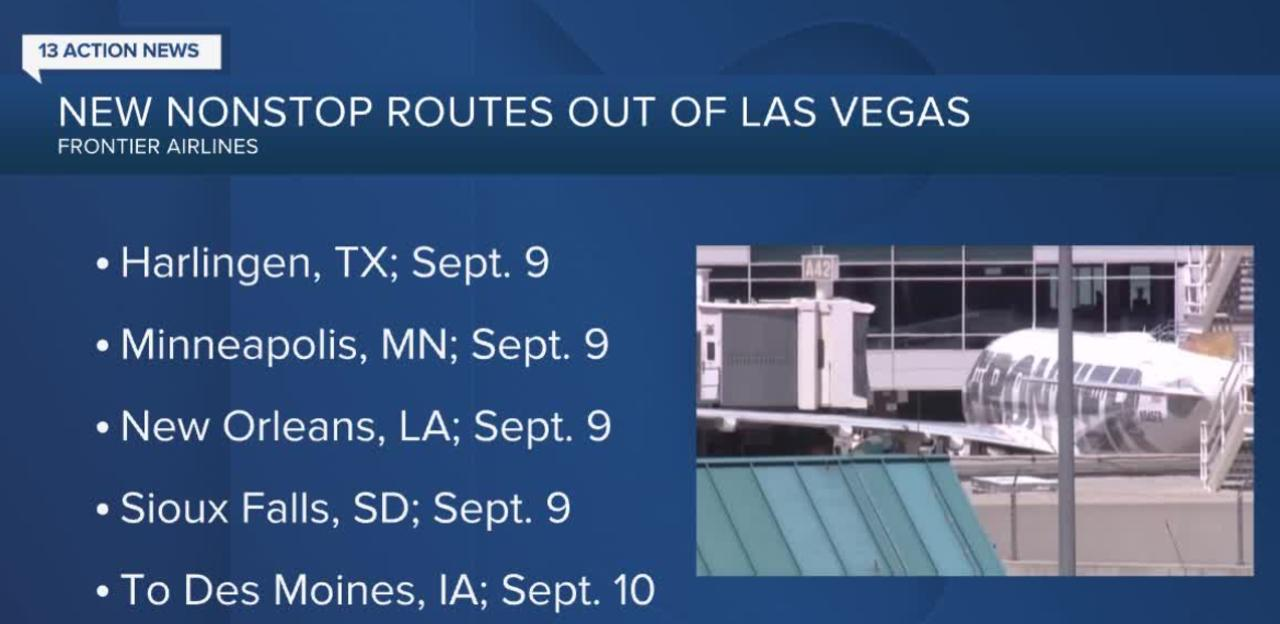 Frontier Airlines announces new flights from Las Vegas