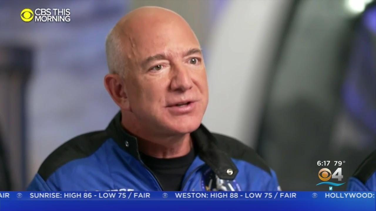 From Miami To Space, Amazon Founder Jeff Bezos Celebrates Historic Flight