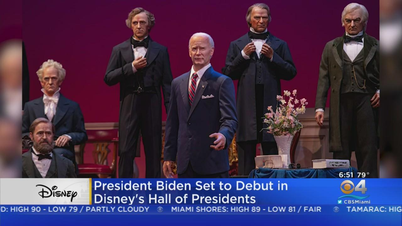 President Biden Audio-Animatronic Installed At Disney World's 'Hall Of Presidents' Attraction