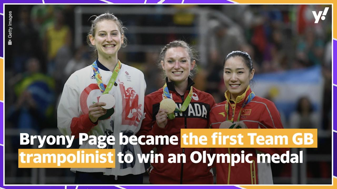 What inspired gymnast Bryony Page to become an Olympic athlete?