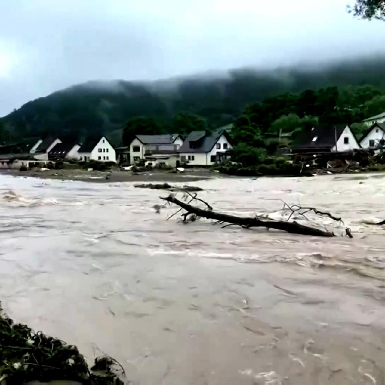 The images of floods in Europe are crazy