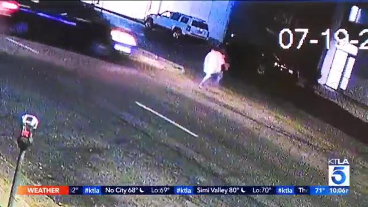 Police seek driver in 'purposeful' North Hollywood hit-and-run caught on camera