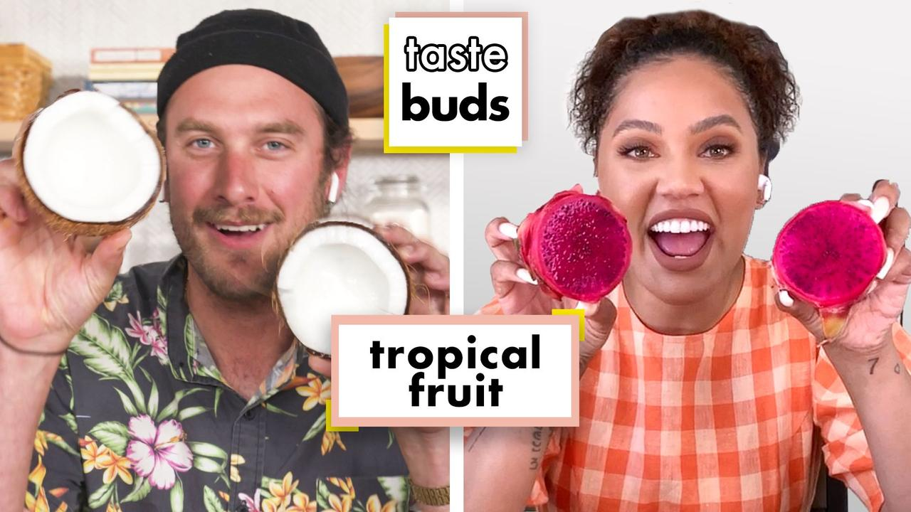 Ayesha Curry & Brad Try 7 Kinds Of Tropical Fruit