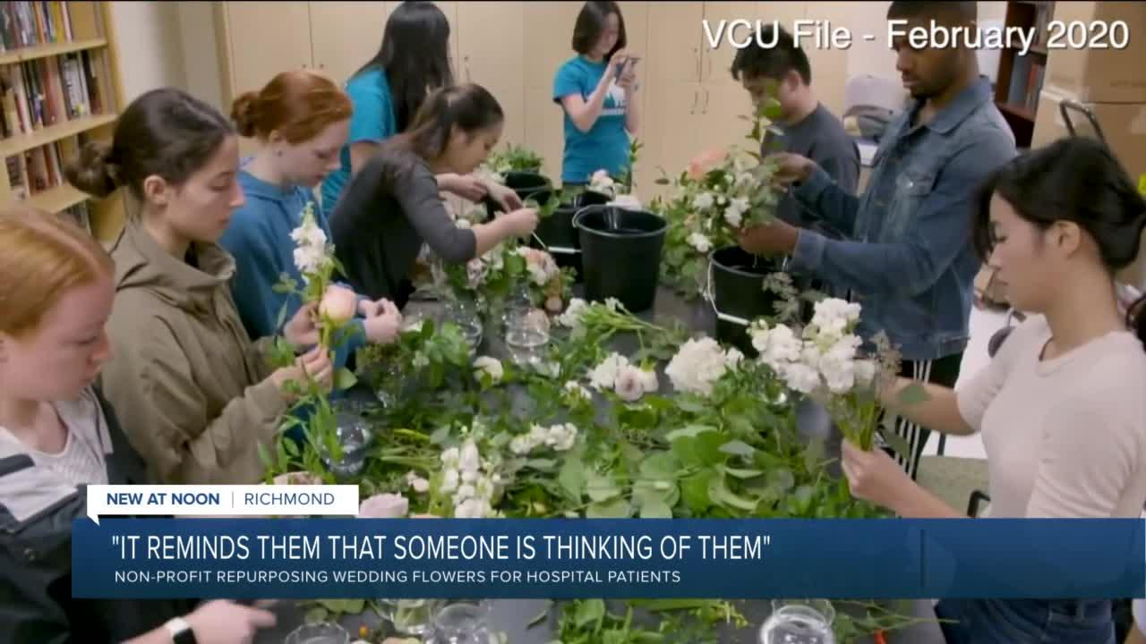 Doctor repurposes wedding flowers for VCU patients