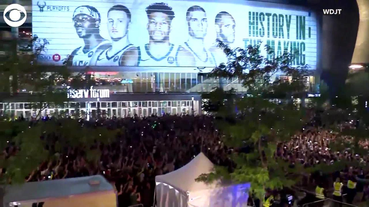 WEB EXTRA: Milwaukee Bucks Fans Celebrate Their First NBA Title In 50 Years
