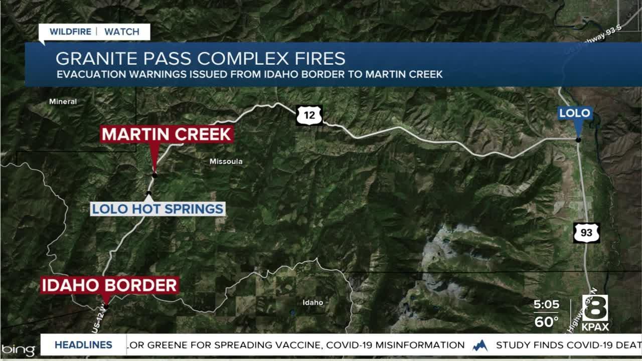 Evacuation warning expanded near Granite Pass fire