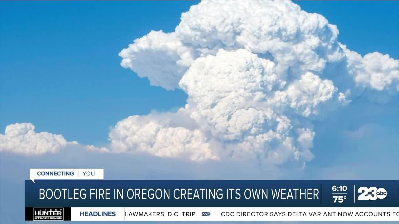 Bootleg Fire in Oregon creating its own weather
