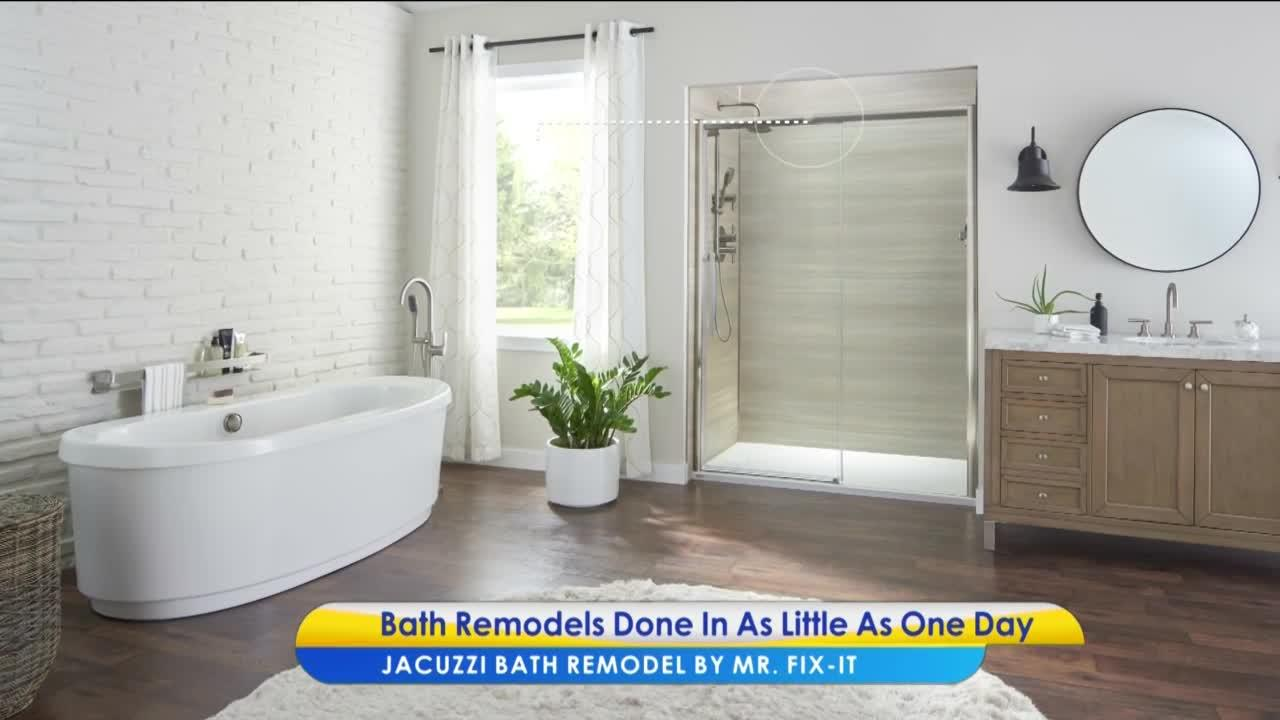 Upgrade your bathroom with the help of Jacuzzi Bath Remodel by MR. FIX-IT