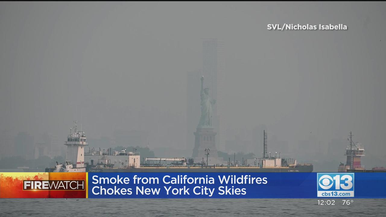Smoke From Western Wildfires Chokes NYC Skies