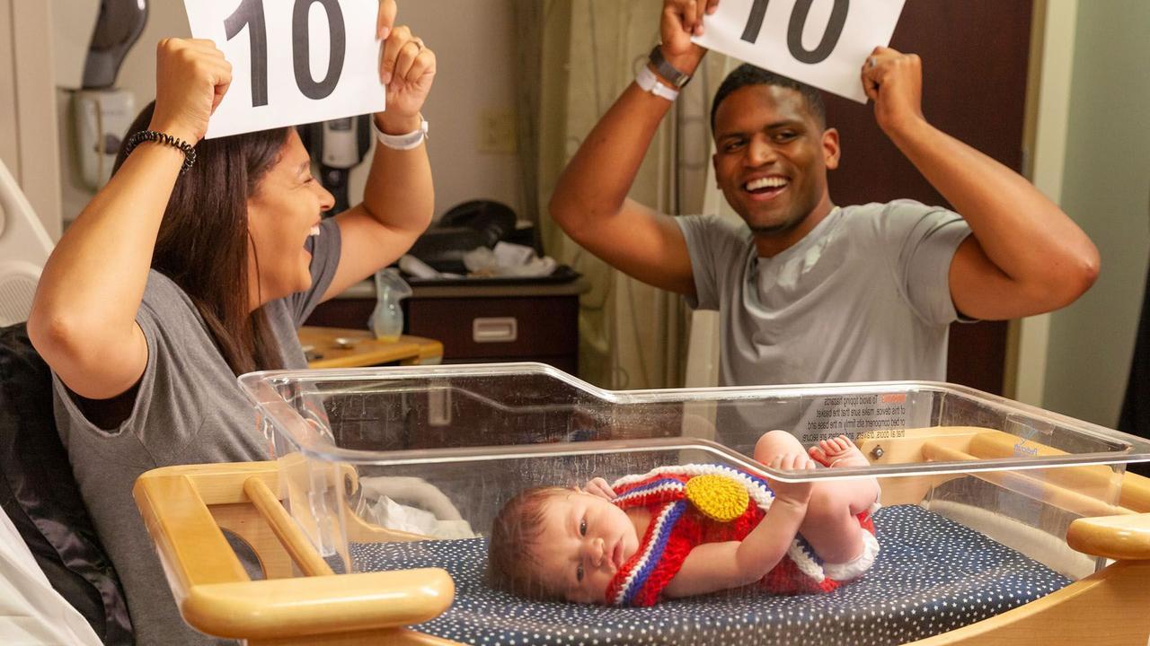 Meet mini-Team USA: Newborns at Saint Luke's get into the Olympics spirit
