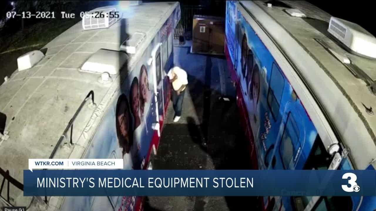 Catalytic converter stolen from Hampton Roads ministry