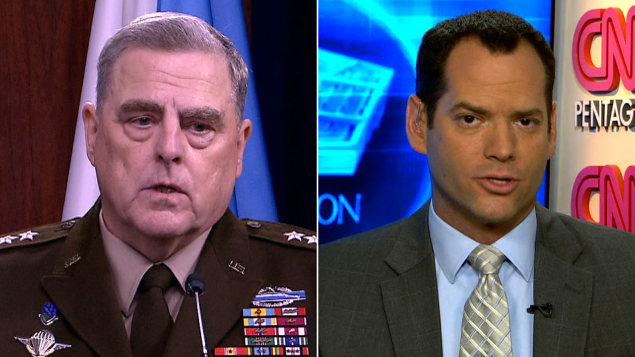 CNN Reporter: Milley did something he rarely does