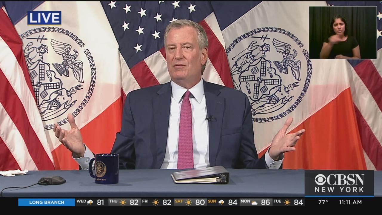 Mayor De Blasio's Wednesday COVID Briefing