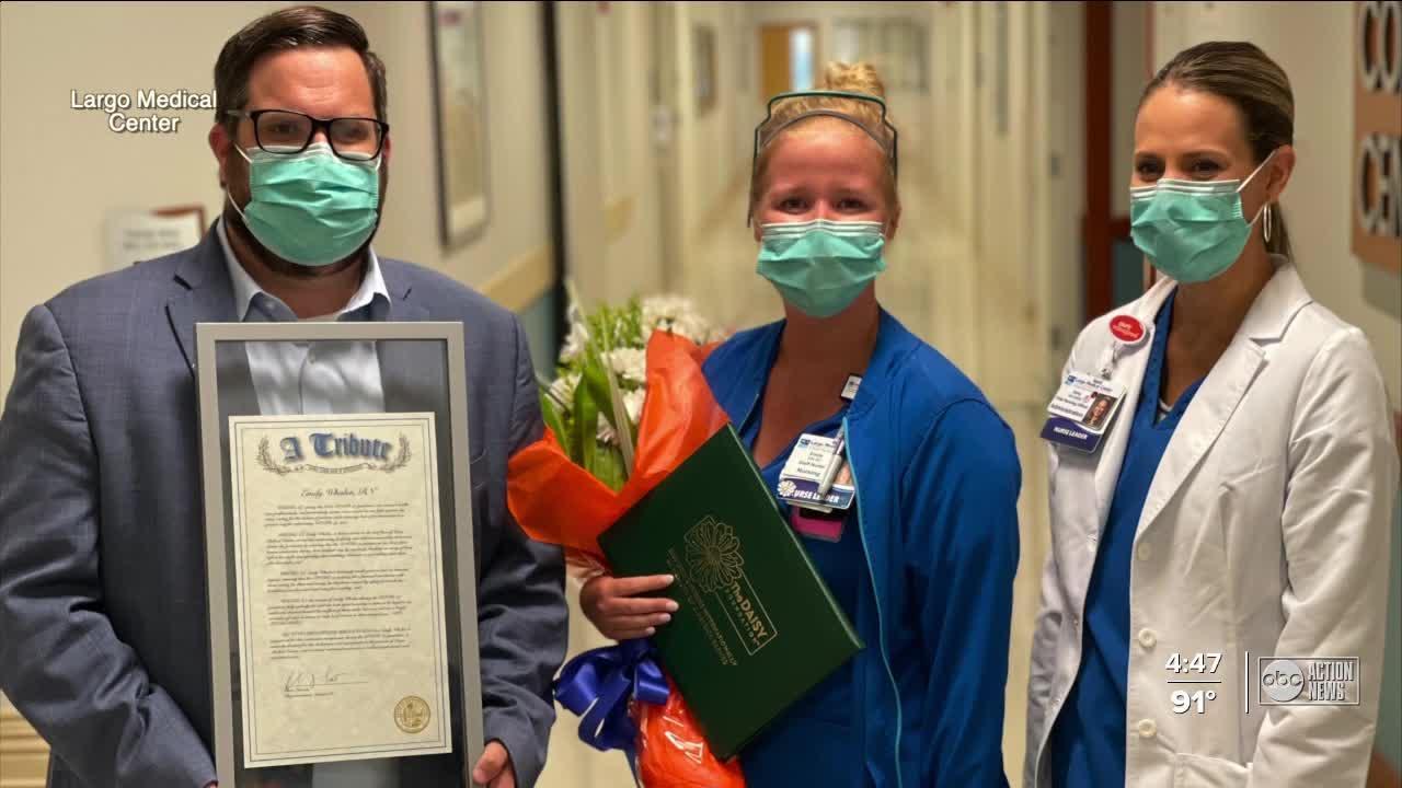 Rep. Chris Latvala gives nurses prestigious award for providing extraordinary care