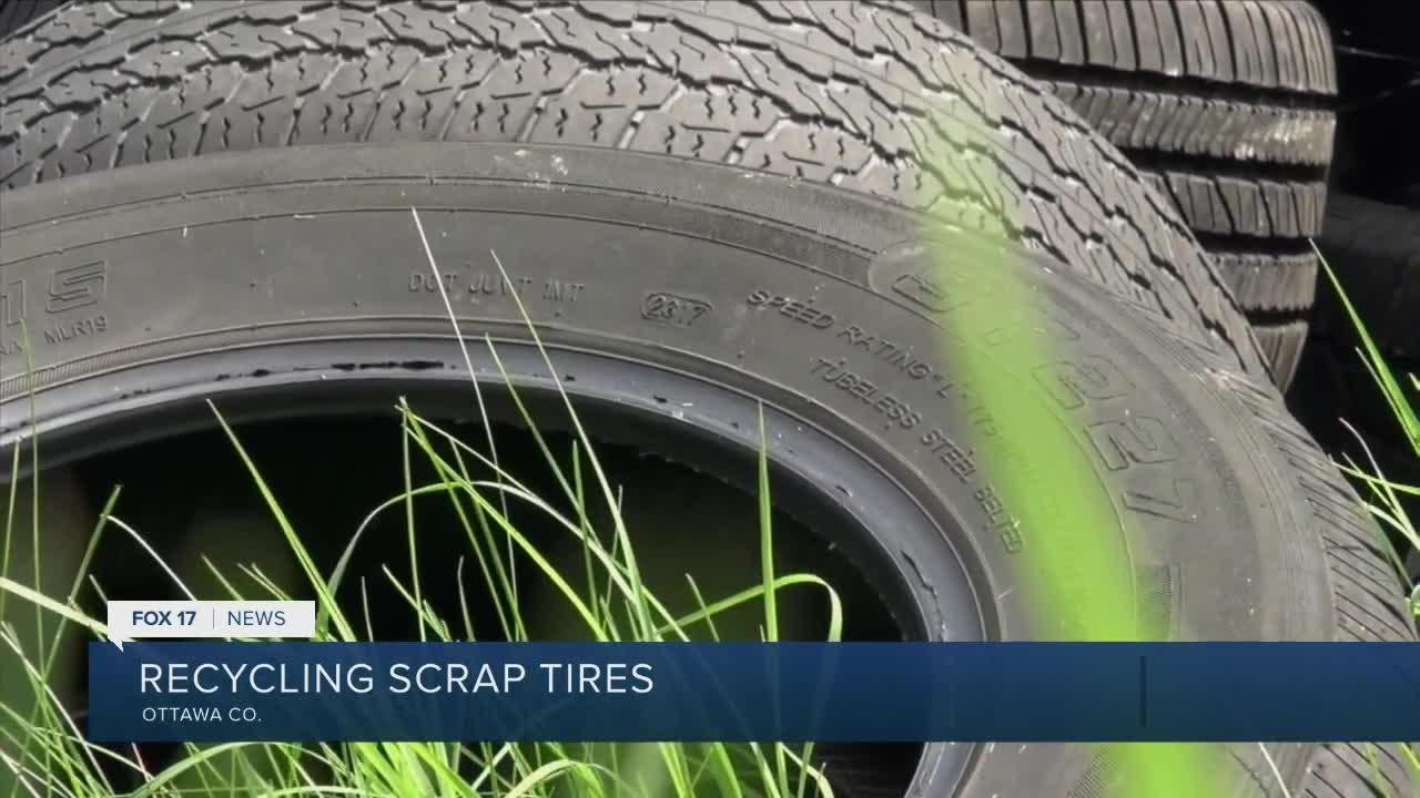 Ottawa Conservation District collecting scrap tires on July 31