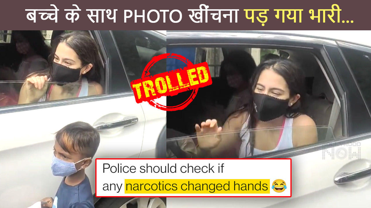 Sara Ali Khan TROLLED For Being Clicking Picture With A Kid | Viral Video